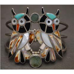 ZUNI INDIAN OWL BRACELET