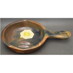 NAVAJO INDIAN POTTERY FRYING PAN (BETTY MANNYGOATS)