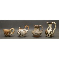 COLLECTION OF PUEBLO POTTERY PITCHERS