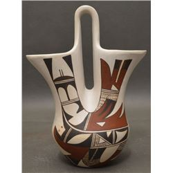 HOPI INDIAN POTTERY VASE (JOY NAVASIE)