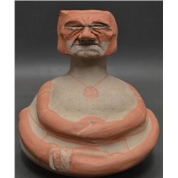 PAPAGO INDIAN POTTERY EFFIGY  JAR