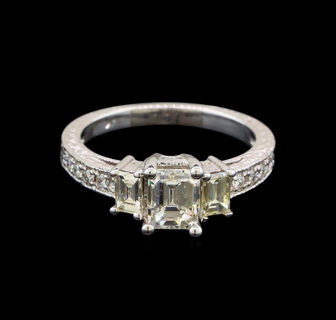 Diamond White Usa >> 14kt White Gold Egl Usa Certified 1 55 Ctw Diamond Ring