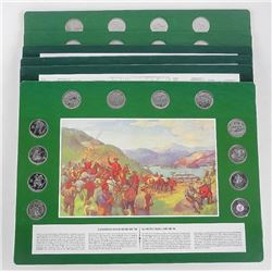 Lot (6) Art Boards Early Canada with 12 - x 25 cen