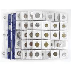 Lot (10) Pages World Coins