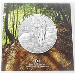 .9999 Fine Silver $20.00 Coin 'WOLF'