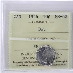 Canada Silver 10 Cents MS-62 Dot
