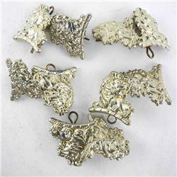 Lot (5) Pairs ESSEX SCOTTISH WWII Collars.