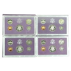 Lot (4) USA Proof Coin Sets: 1984, 1985, 1986, 198