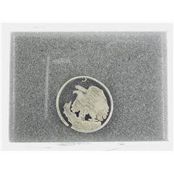 Estate - Carved U.S. Silver Half Dollar