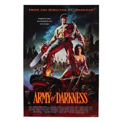 Army of darkness  - Original Vintage One Sheet Poster Autographed - III316