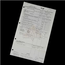 Back to the Future - Original Production Call Sheet (4th Day of Filming) Featuring Eric Stoltz - III