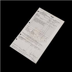 Back to the Future - Original Production Call Sheet (99th Day of Filming) - III182