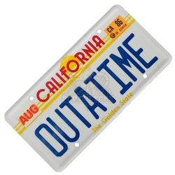 """Back to the Future – """"OUTATIME"""" License Plate - III306"""
