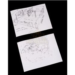 Back to the Future – Original Andrew Probert Sketches of Doc's Garage/Lab - III266