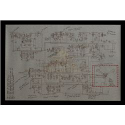 Back To The Future Part III - Flux Capacitor Schematic (with red outline) - III307