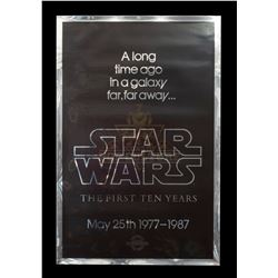 Star Wars: The First Ten Years - 10th Anniversary Silver Mylar One Sheet - III317
