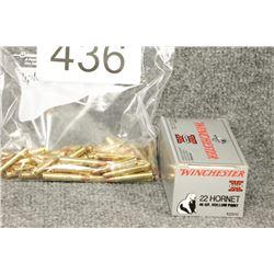 22 Hornet Cartridges & Brass