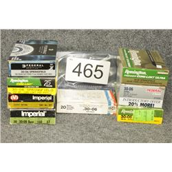 Assorted 30-06 Ammo