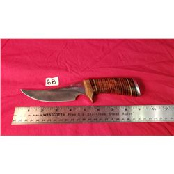"Signed Custom Knife Seldom, 5"" Blade"