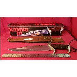 Rambo 3 Authentic Knife With Coa