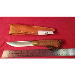 "Bark River With Sheath, 4"" Blade"