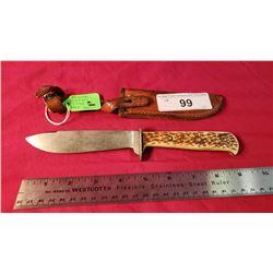 Puma Style Hunting Knife And Sheath