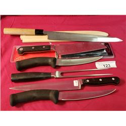 Six Assorted Kitchen Knives