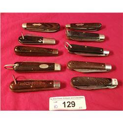 10 Assorted Vintage Jack Knives