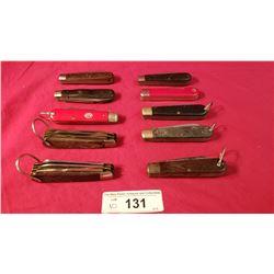 10 Assorted Jackknives