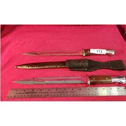 2 Ww2 Mauser 98 Parade Bayonets