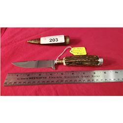 Heubertus Stag Handle Soligen Knife And Case