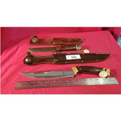 Pal Fighting Knife Vintage Plus A Large Custom Fighter