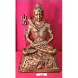 18X11 Vintage Cast Bronze Buddha