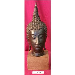 5X16 Bronze Buddh On Wooden Stand