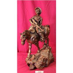 12X20 Composite Cowboy On Horse