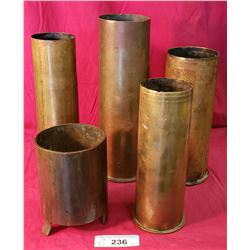 """5 Ww2 Shells From 5-10"""""""