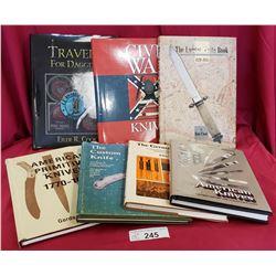 7 Assorted Books, Knives, Bayonets