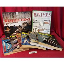 8 Collectible Books On Knives And Gunsights