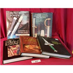 A Nice Lot Of 5 Hardcover Knife Books