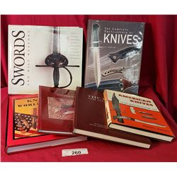 A Lot Of 6 Knife And Sword Books