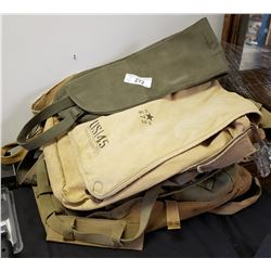 9 Assorted Military Bags