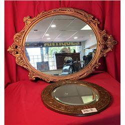 Pair Of Vintage Decorative Mirrors