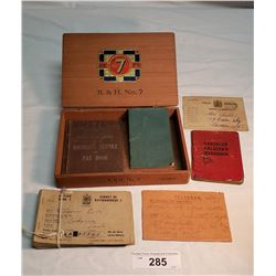 Ration Books Ww2 Canadian Soldiers Handbook And Canadian Army Soldiers Service And Pay Book And Cana