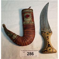 Persian Dagger And Sheath