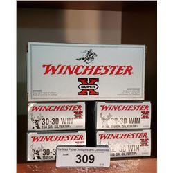5 New Boxes 30-30 Winchester 150Grain Silvertip