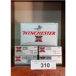 5 New Boxes Winchester Sabot Slugs 126A. 2 3/4 10 Slug