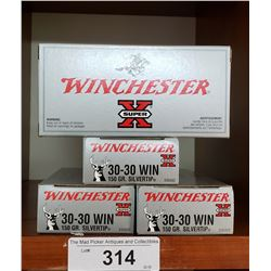 5 New Boxes Of 30-30 Winchester 150Grain Silvertips