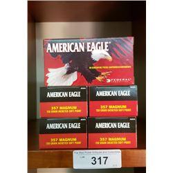 5 New Boxes American Eagle 357 Magnum 158 Grain