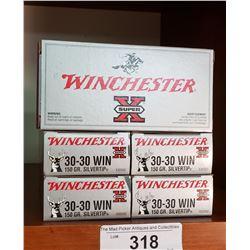 5 Boxes New 30-30 Winchester 150Grain
