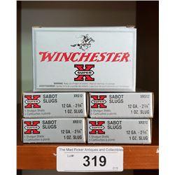 5 Boxes New Winchester 12 Ga 2 3/4  Slugs